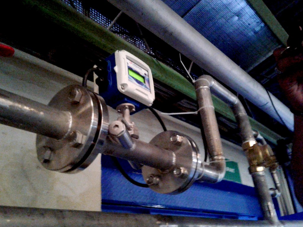 Aplikasi In Line Ultrasonic Flow Meter
